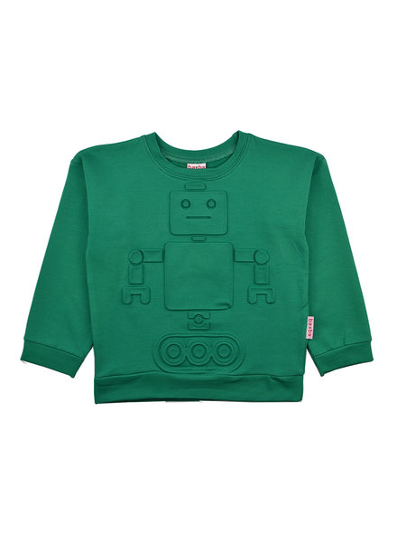 Sweater - Robot Green