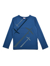 OUTLET // Longsleeve boys - Airplane Blue