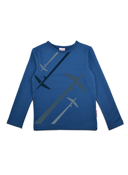 Longsleeve boys - Airplane Blue