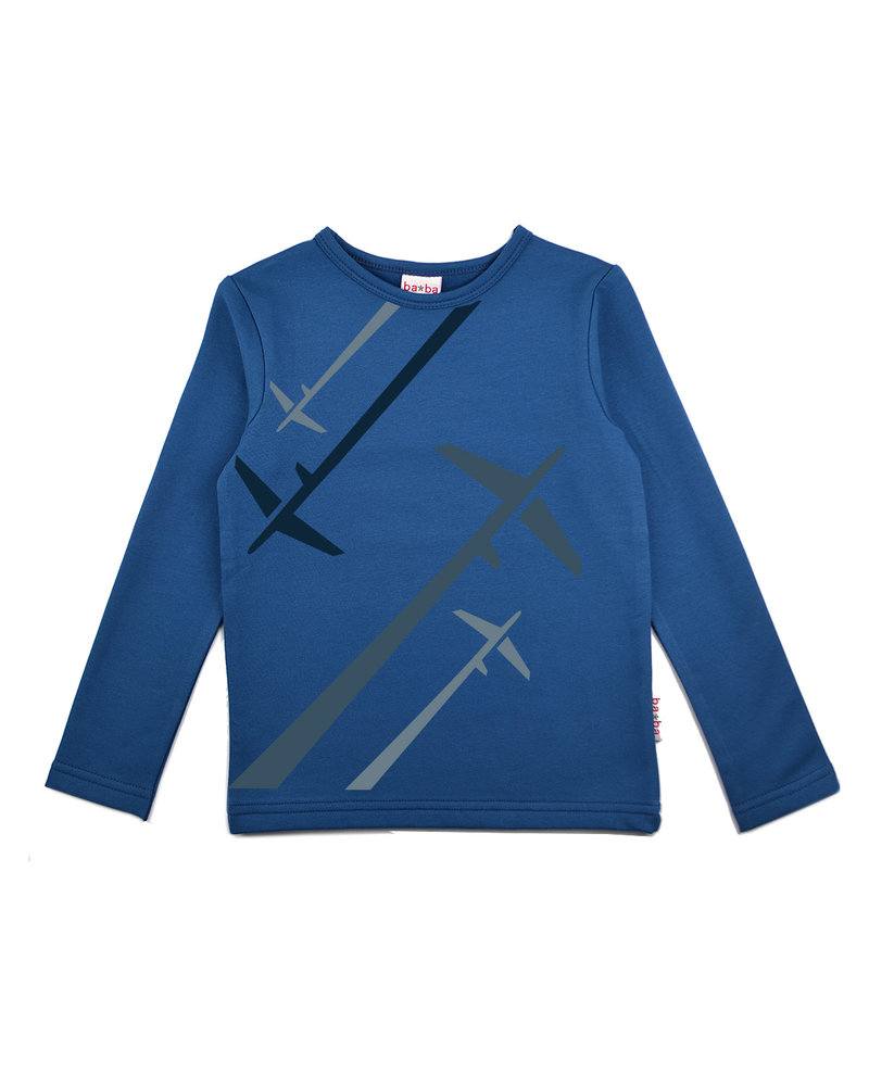 OUTLET // Longsleeve boys - Airplane Blue