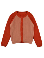 OUTLET // Cardigan girls - Bicolor Red Pink