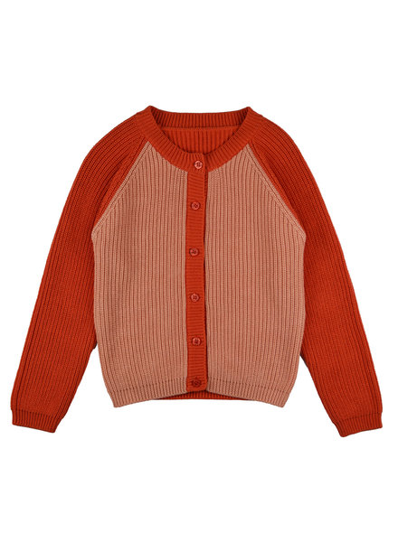 Cardigan girls - Bicolor Red Pink