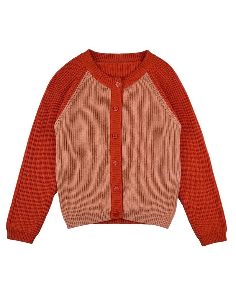 OUTLET // Cardigan girls - Bicolor Red Pink