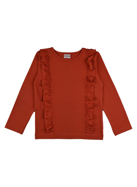Ruffle Shirt - Red