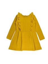 Ruffle dress - Gold