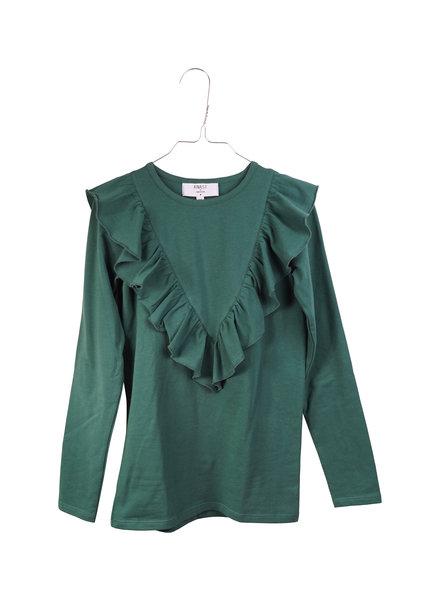 OUTLET // Longsleeve - Ruffle Posy Green