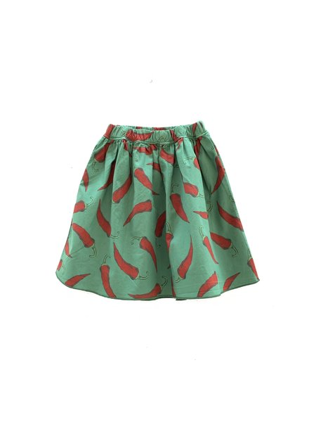 OUTLET // Skirt - Green Upcycled Peppers