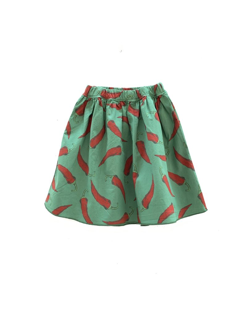 Skirt - Green Upcycled Peppers