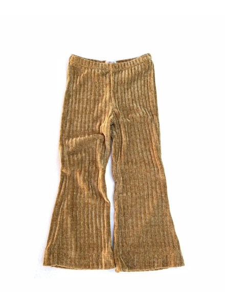 Flared Pants - Ochre Ribbed Velvet