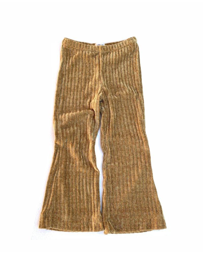 Flared Pants - Ochre Ribbed Velvet