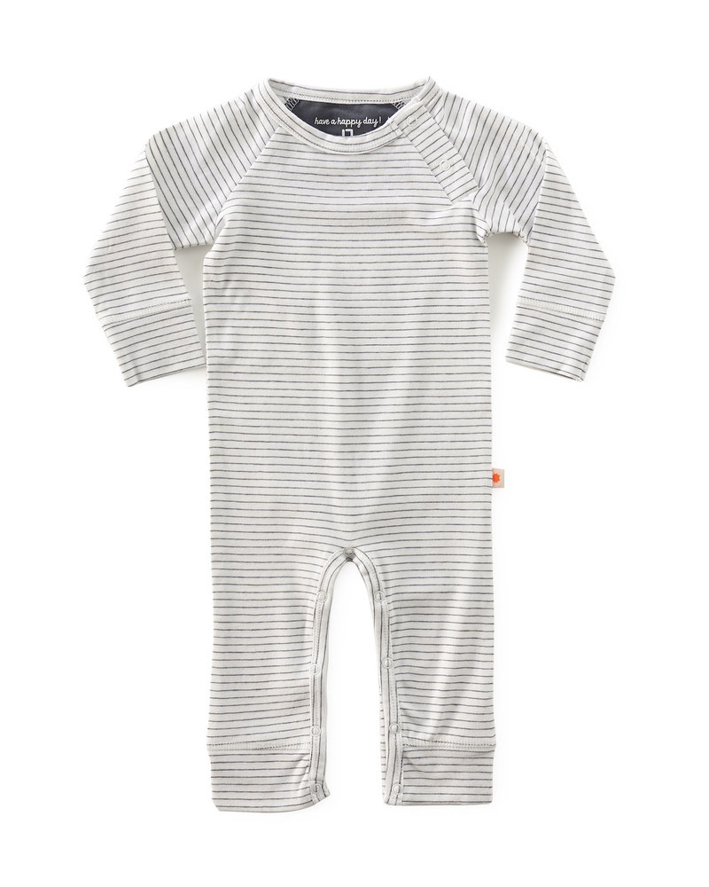 Little Label jumpsuit - anthracite stripe