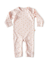 Little Label jumpsuit - light pink hearts