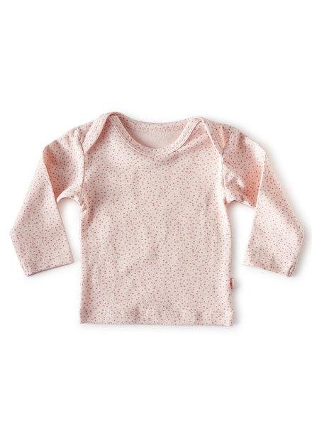 Little Label longsleeve - light pink hearts