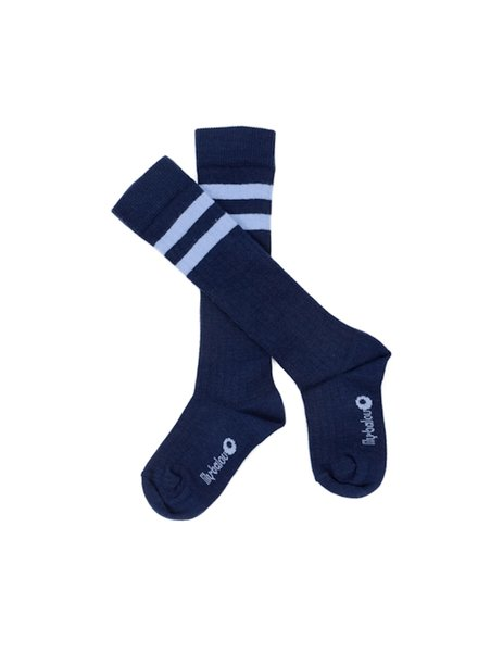 Kneesocks - Jordan Striped Dark Blue
