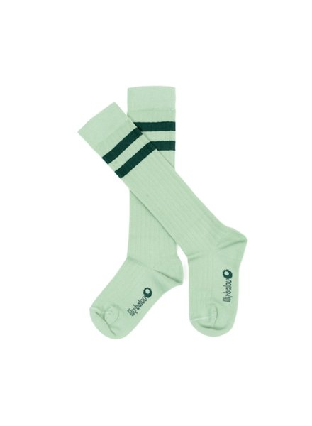 Kneesocks - Jordan Striped Frosty Green