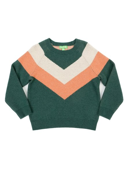 Pull - Livia Colourblock Dark Green