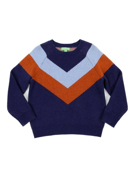 Pull - Livia Colourblock Dark Blue