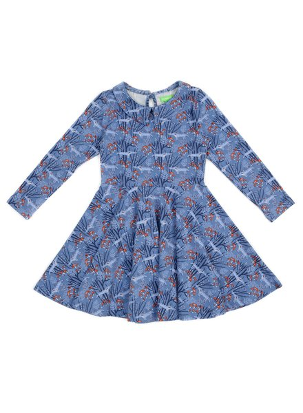 Dress - Amelie Wolves Blue