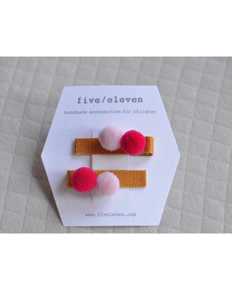 Hair accessories - pair of pompons malsala