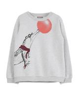 sweatshirt - gris chine croco