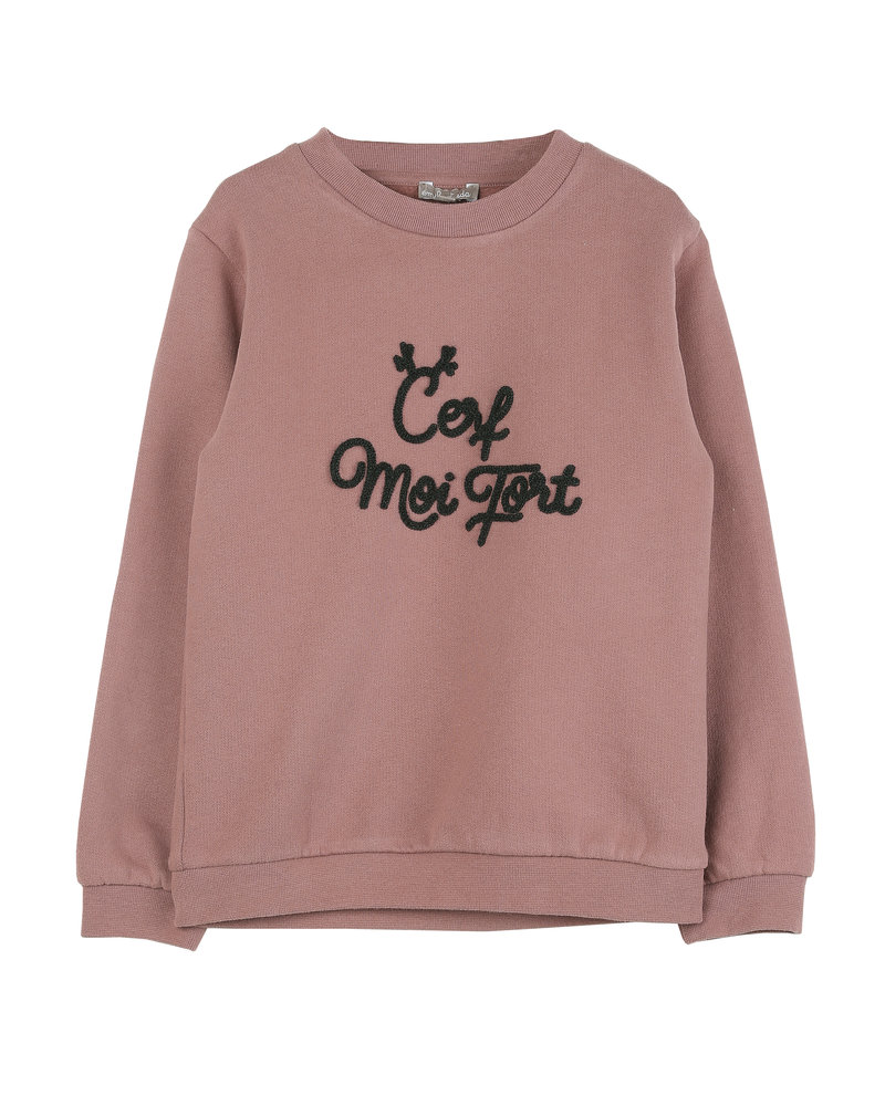 sweatshirt - chataigne cerf moi fort