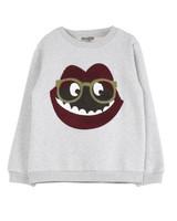 sweatshirt - gris chine bouche