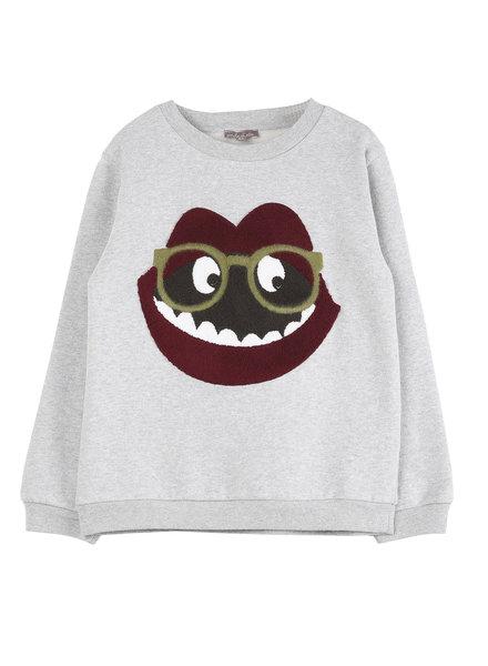 OUTLET // sweatshirt - gris chine bouche