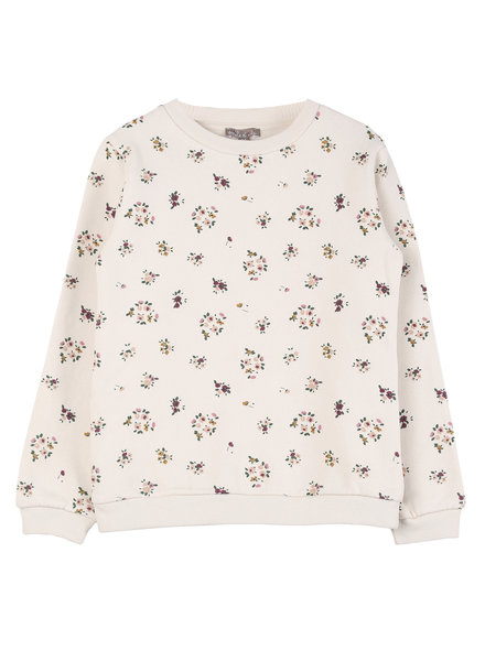 sweatshirt - ecru floral