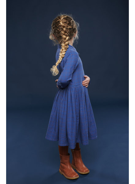 Dress - Mia Grid Blue