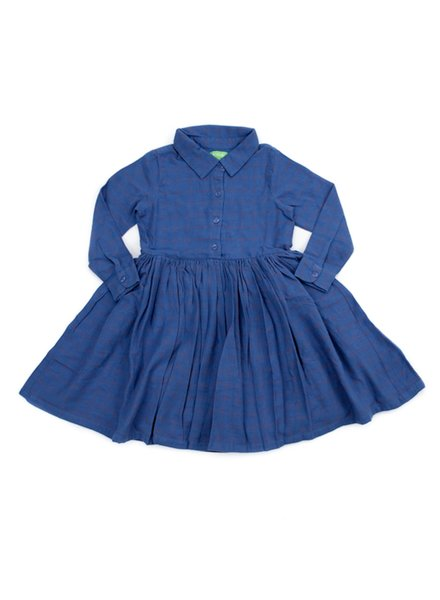 Dress - Mia Grid Blue