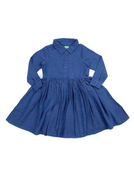 OUTLET // Dress - Mia Grid Blue