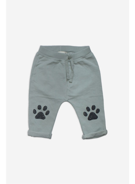 Pants - Paws Aqua Gray
