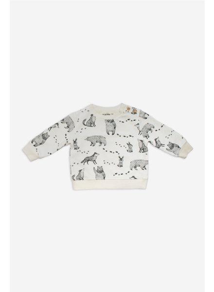 Sweater - Paw Print Ecru