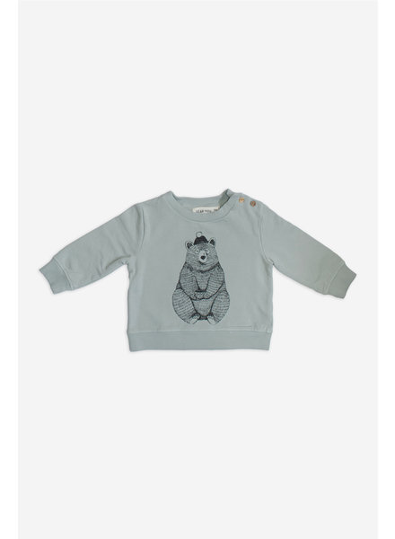 Sweater - Bear Aqua Gray