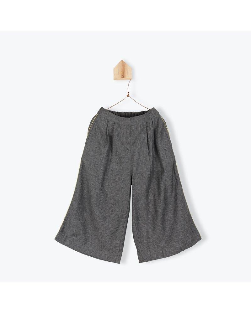 Culotte tweed - anthracite