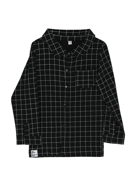 Shirt button - black lines