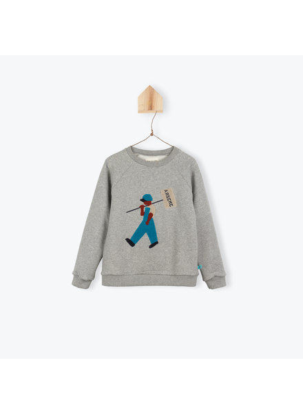 Sweater travailleur - gris chine
