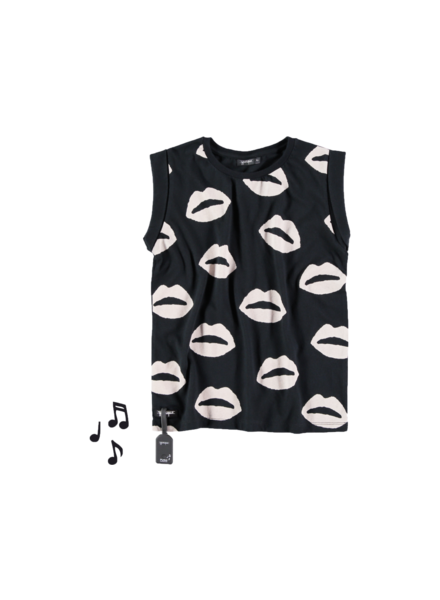 OUTLET // t-shirt black kiss fold