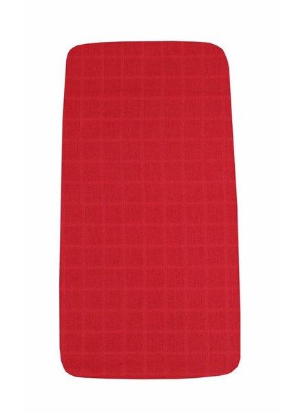 OUTLET // hoeslaken tetra - red - 60x120cm