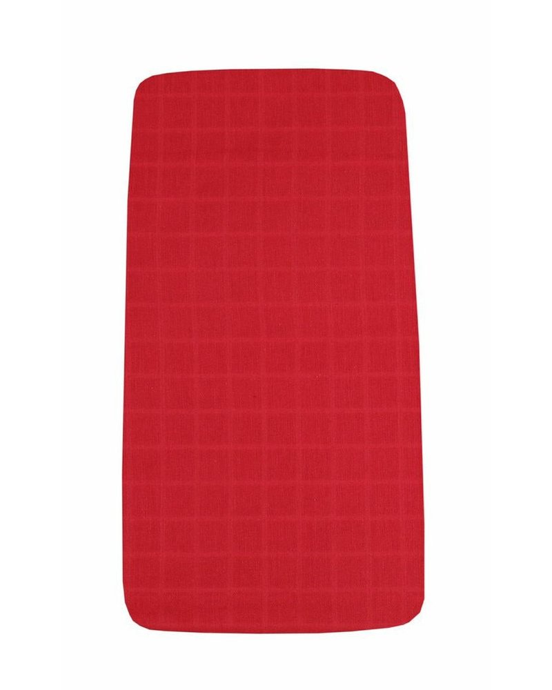 OUTLET // hoeslaken tetra - red - 60x120cm