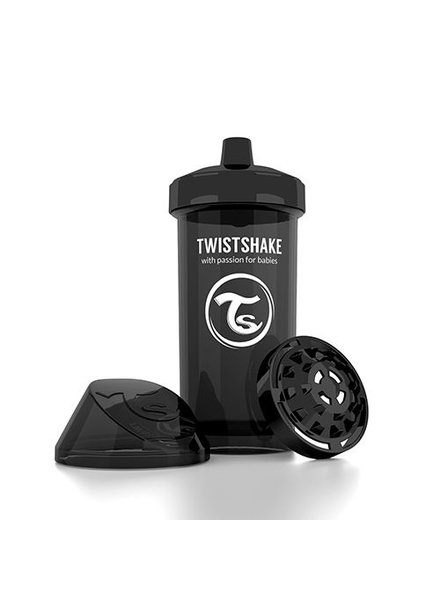 Kid cup - twistshake black (360ml)