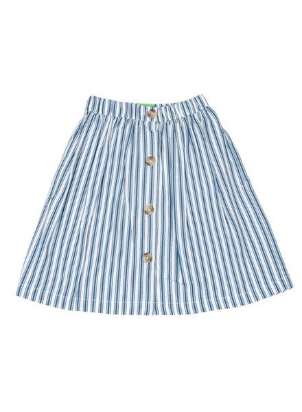 Skirt - Thalia Boat Stripe Teal Real