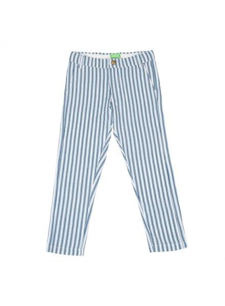 Trousers - Noah Boat Stripe Teal Blue