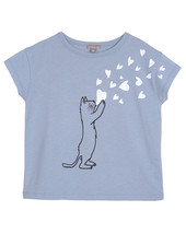 T-shirt - Bleuet Chat Coeur