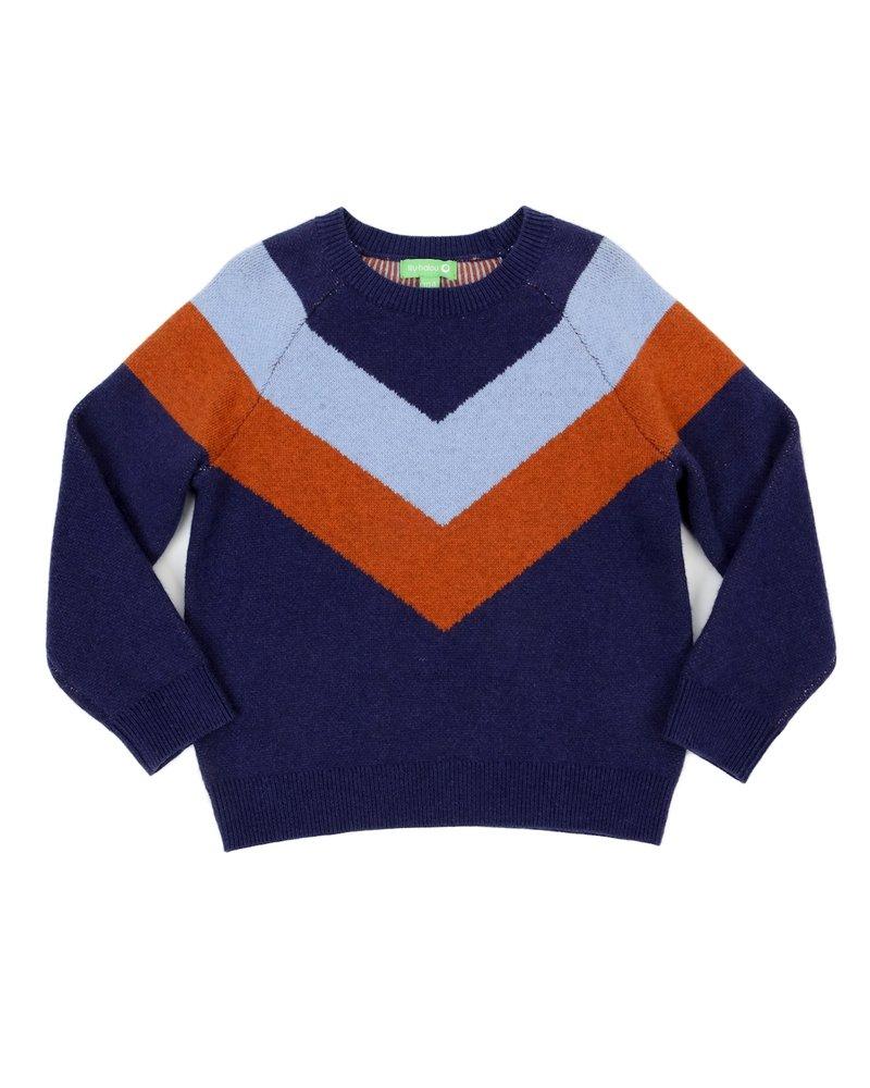 Sweater - Livia Colourblock Dark Blue