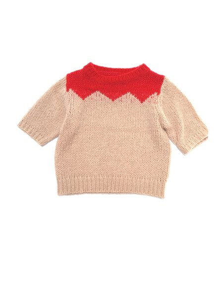 knitted pull - strawberry