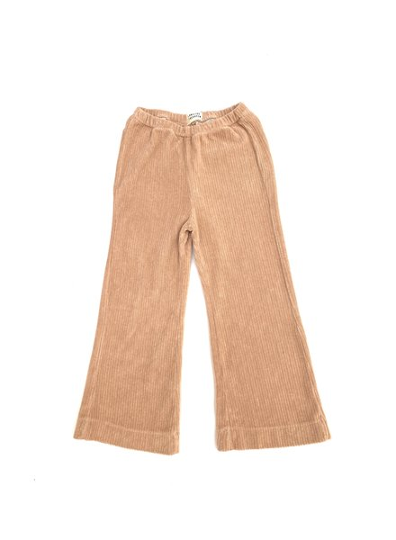 ribbed pants terry - beige