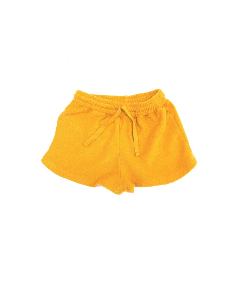 shorts terry - yellow