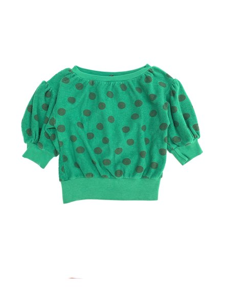 sweater terry - dots green