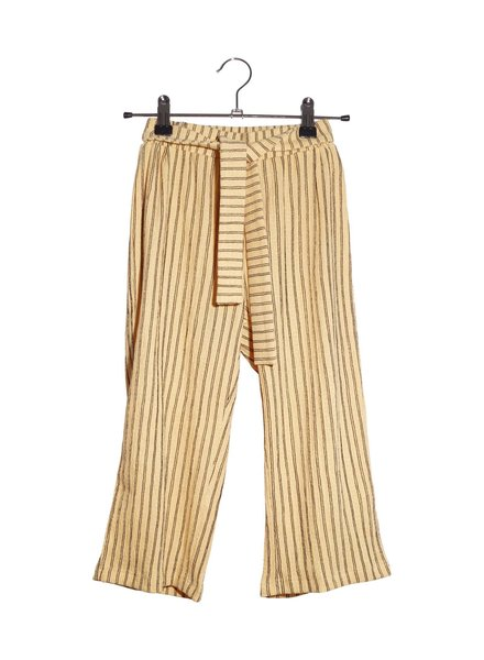 Pants - Striped Donna Yellow